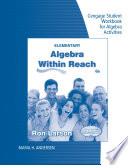 Student Workbook for Larson s Elementary Algebra  Algebra within Reach  6th Book PDF