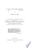 A Lay of the West  and other poems  By the author of  Parental Wisdom   etc Book PDF