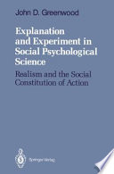 Explanation and Experiment in Social Psychological Science Book PDF