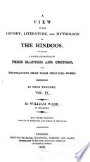 History, Literature and Religion of the Hindoos  , Volume 4