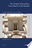 The Temple of Jerusalem  From Moses to the Messiah Book