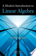 A Modern Introduction to Linear Algebra