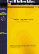 Outlines and Highlights for Matching Supply with Demand by Cachon
