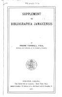 Supplement to Bibliographia Jamaicensis