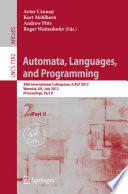 Automata  Languages  and Programming