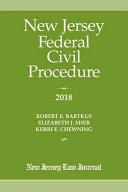 New Jersey Federal Civil Procedure 2018