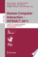 Human Computer Interaction    INTERACT 2011 Book