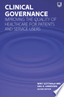 Ebook Clinical Governance Improving The Quality Of Healthcare For Patients And Service Users