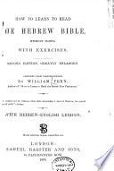 How to Learn to Read the Hebrew Bible Without Points