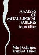 Analysis Of Metallurgical Failures Book PDF