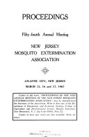 Proceedings of the Annual Meeting of the New Jersey Mosquito Extermination Association