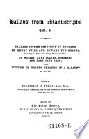 Ballads on the Condition of England in Henry VIII s and Edward VI s Reigns     with Wynkyn de Worde s Treatise of a Galaunt Book