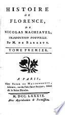 Histoire De Florence Machiavel
