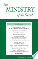The Ministry Of The Word Vol 23 No 10
