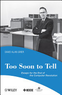 Too Soon To Tell Book PDF