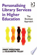 Personalising Library Services in Higher Education Book