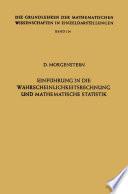 Einführung in die Wahrscheinlichkeitsrechnung und mathematische Statistik
