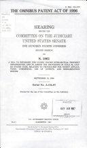 The Omnibus Patent Act of 1996