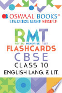Oswaal CBSE RMT Flashcards Class 10 English  For 2021 Exam