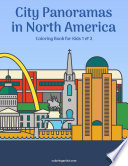 City Panoramas in North America Coloring Book for Kids 1   2