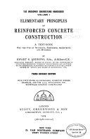 Elementary Principles of Reinforced Concrete Construction