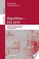 Algorithms    ESA 2010  Part II Book