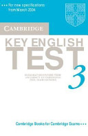 Cambridge Key English Test 3 Audio Cassette