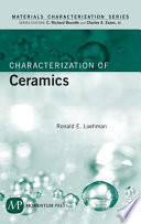 Characterization Of Ceramics Book PDF