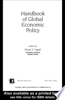 Handbook of Global Economic Policy Book