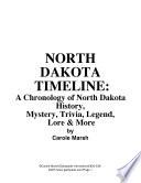 North Dakota Timeline