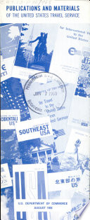 Publications & Materials of the United States Travel Service