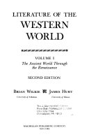 Literature of the Western World  The ancient world through the Renaissance Book