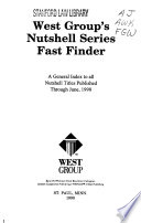 West Group's nutshell series fast finder