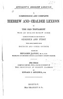 Pdf A Compendious and Complete Hebrew and Chaldee Lexicon to the Old Testament
