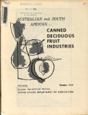 The Australian and South African Canned Deciduous Fruit Industries