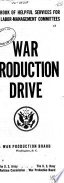War Production Drive Book