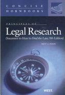 Principles of Legal Research