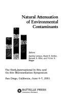 Natural Attenuation of Environmental Contaminants Book