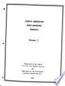North American Bird Banding Manual Book PDF