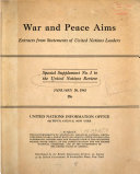 War and Peace Aims