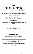 The Plays of William Shakspeare: Julius Caesar