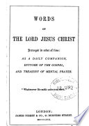 Words of     Jesus Christ Book
