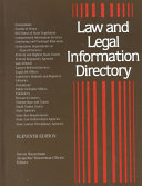 Law and Legal Information Directory