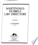 Martindale-Hubbell Law Directory  : Alphabetical index