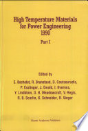 High Temperature Materials For Power Engineering 1990 Book PDF