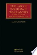 The Law of Insurance Warranties