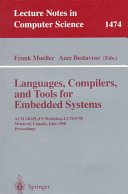 Languages  Compilers  and Tools for Embedded Systems
