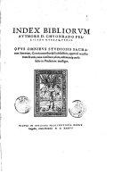 Index bibliorum