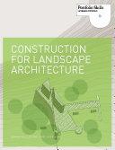 Pdf Construction for Landscape Architecture