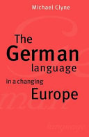 Pdf The German Language in a Changing Europe